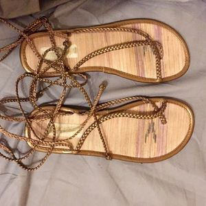 Old Navy Lace Up Gladiator Sandals